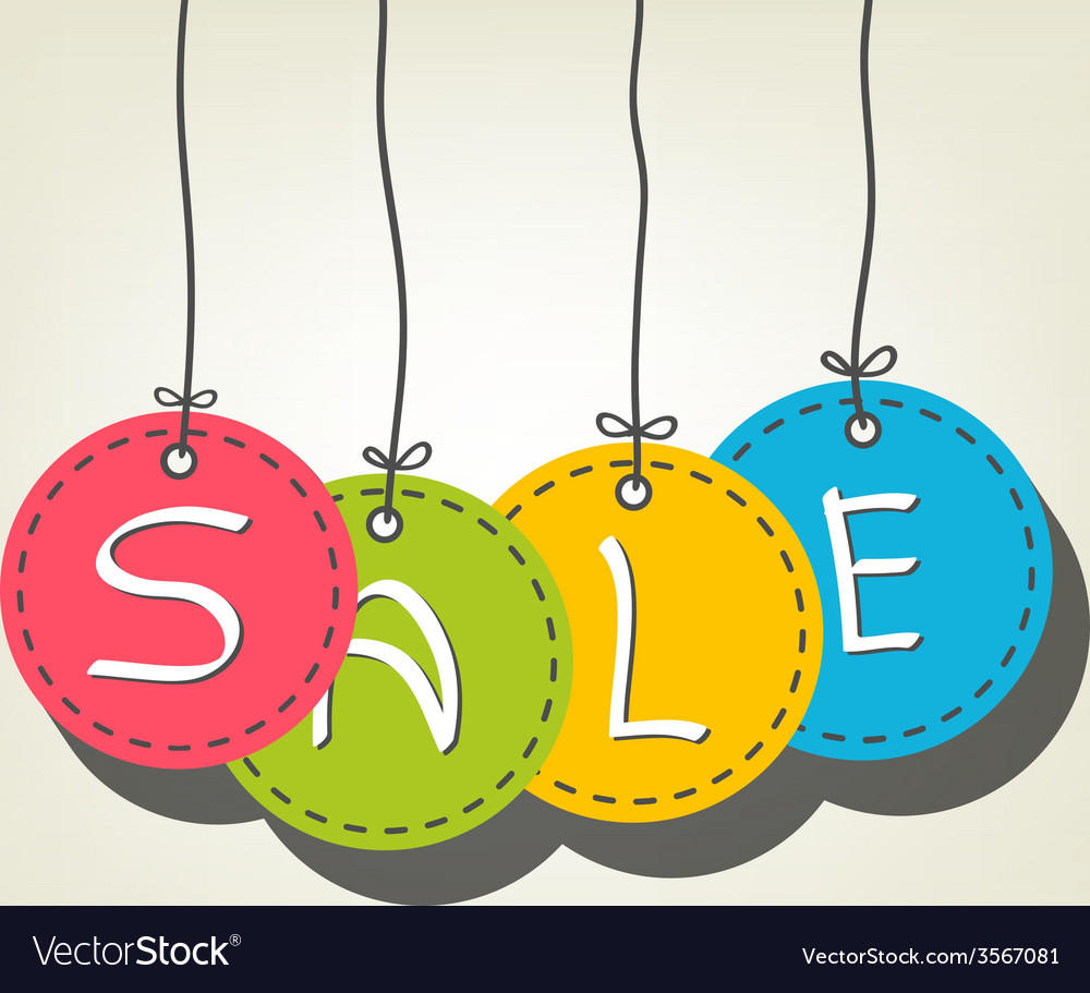 Sale colorful tags vector | Price: 1 Credit (USD $1)