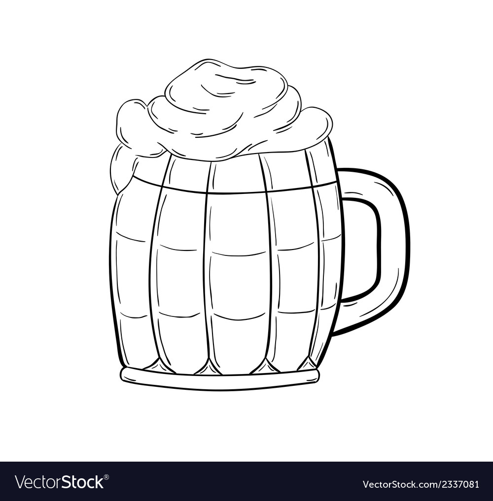 Sketch of the beer vector | Price: 1 Credit (USD $1)