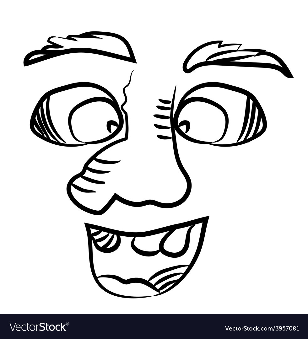 Smiling man with a big nose vector | Price: 1 Credit (USD $1)
