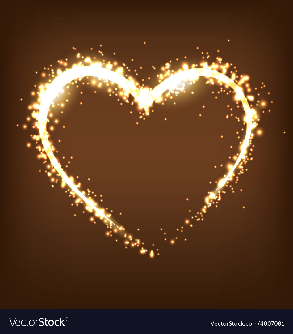 Sparkling heart on brown vector | Price: 1 Credit (USD $1)