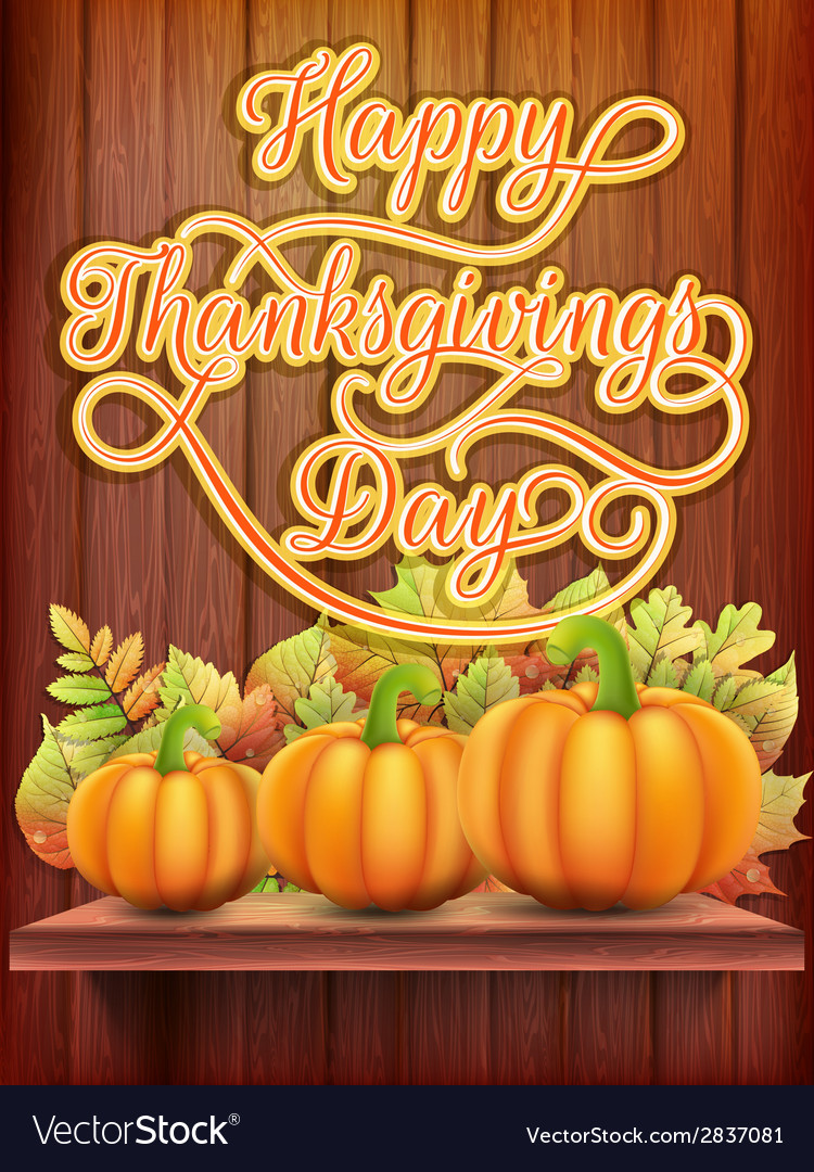 Thanksgiving day card with pumpkin eps 10 vector | Price: 1 Credit (USD $1)