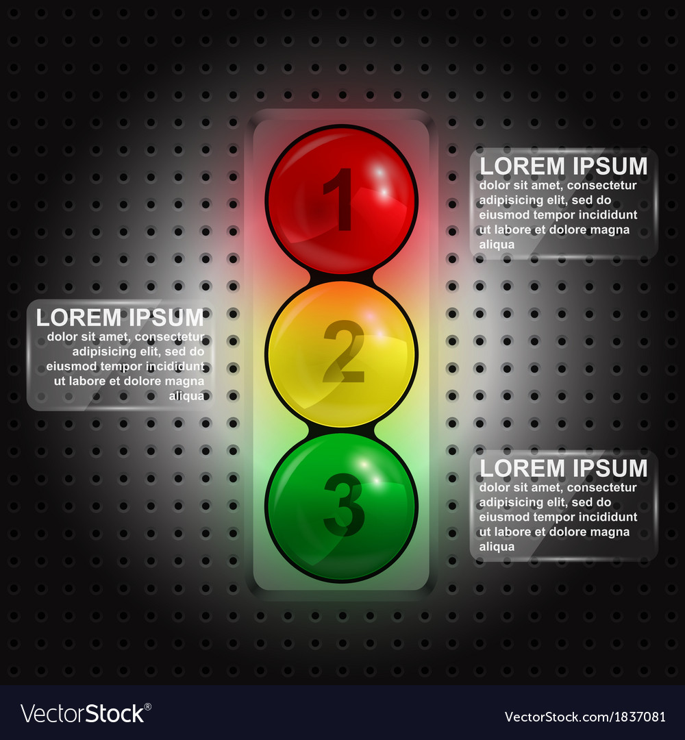 Traffic lights infographic vector | Price: 1 Credit (USD $1)