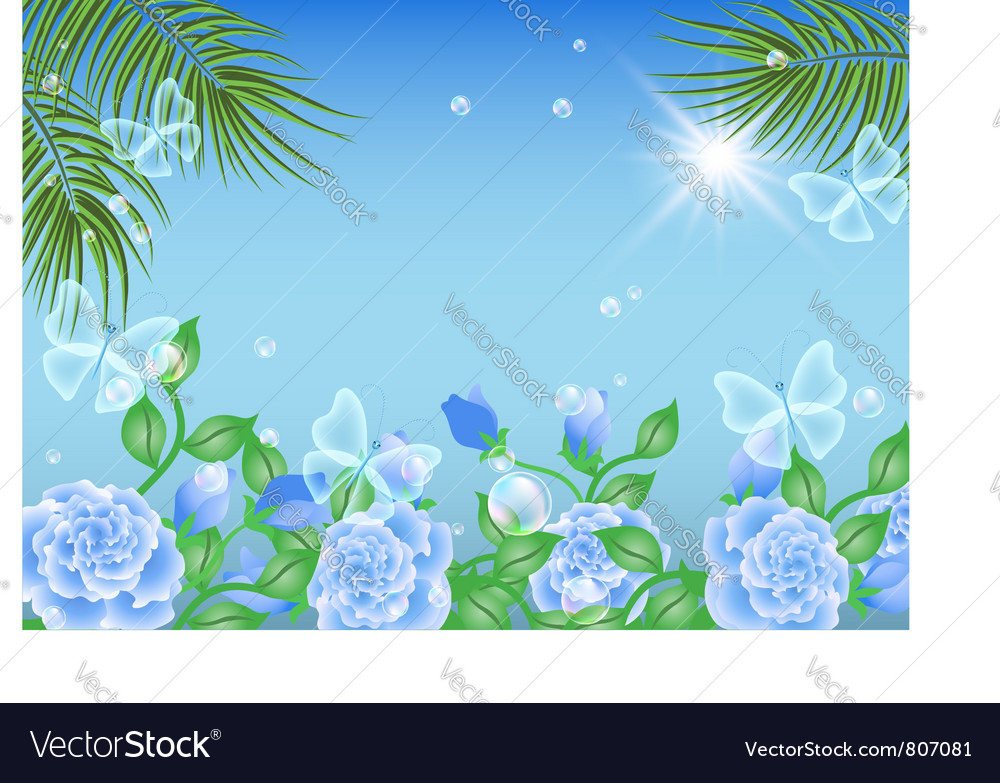 Tropical island summer vector | Price: 1 Credit (USD $1)