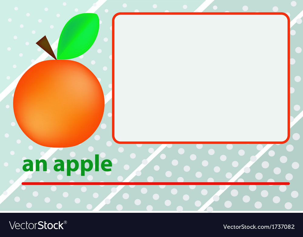 An apple vector | Price: 1 Credit (USD $1)