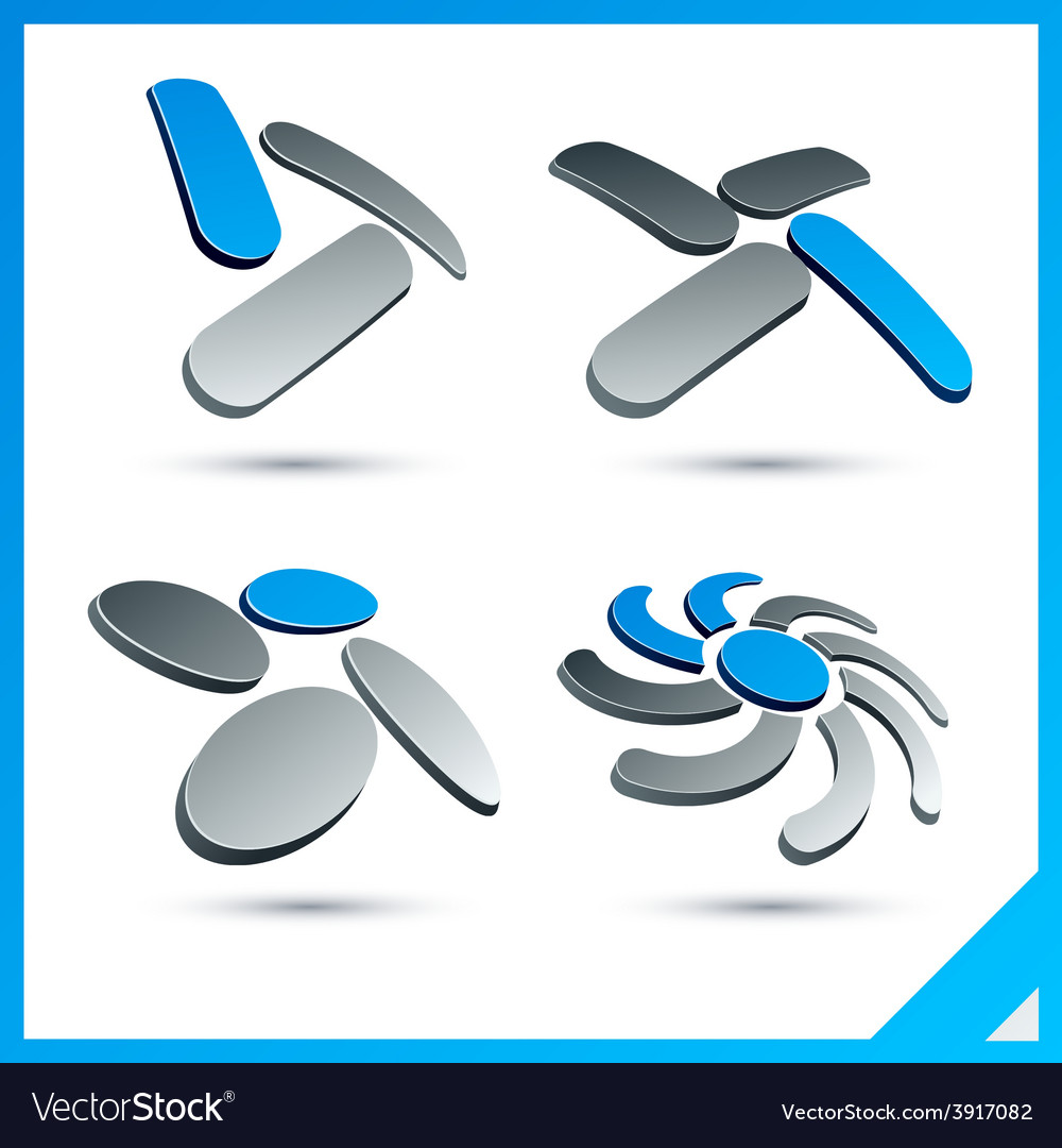 Blue 3d company signs vector | Price: 1 Credit (USD $1)