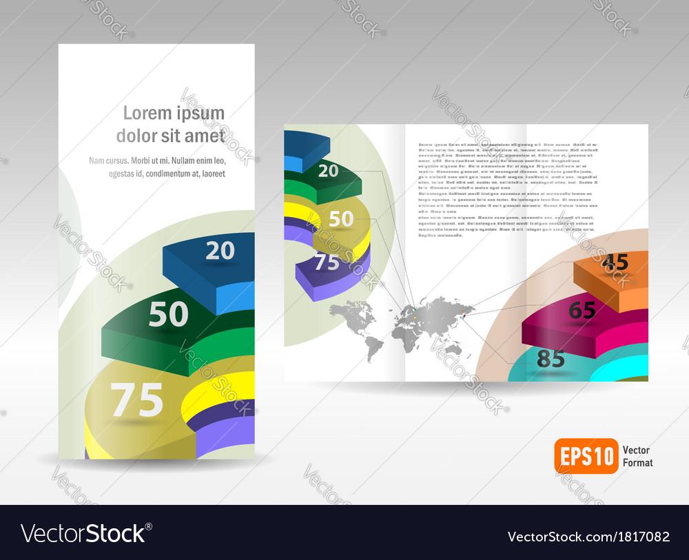 Brochure design template spiral diagram element vector | Price: 1 Credit (USD $1)