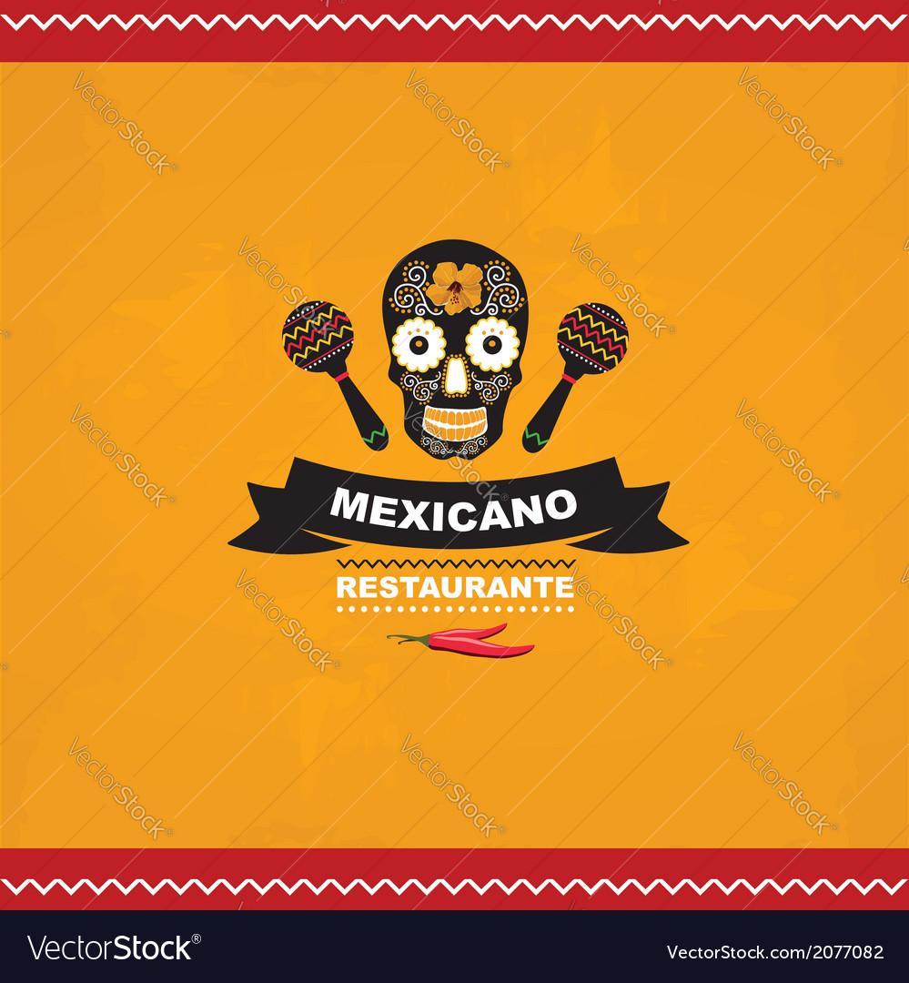 Menu mexican template design vector | Price: 1 Credit (USD $1)