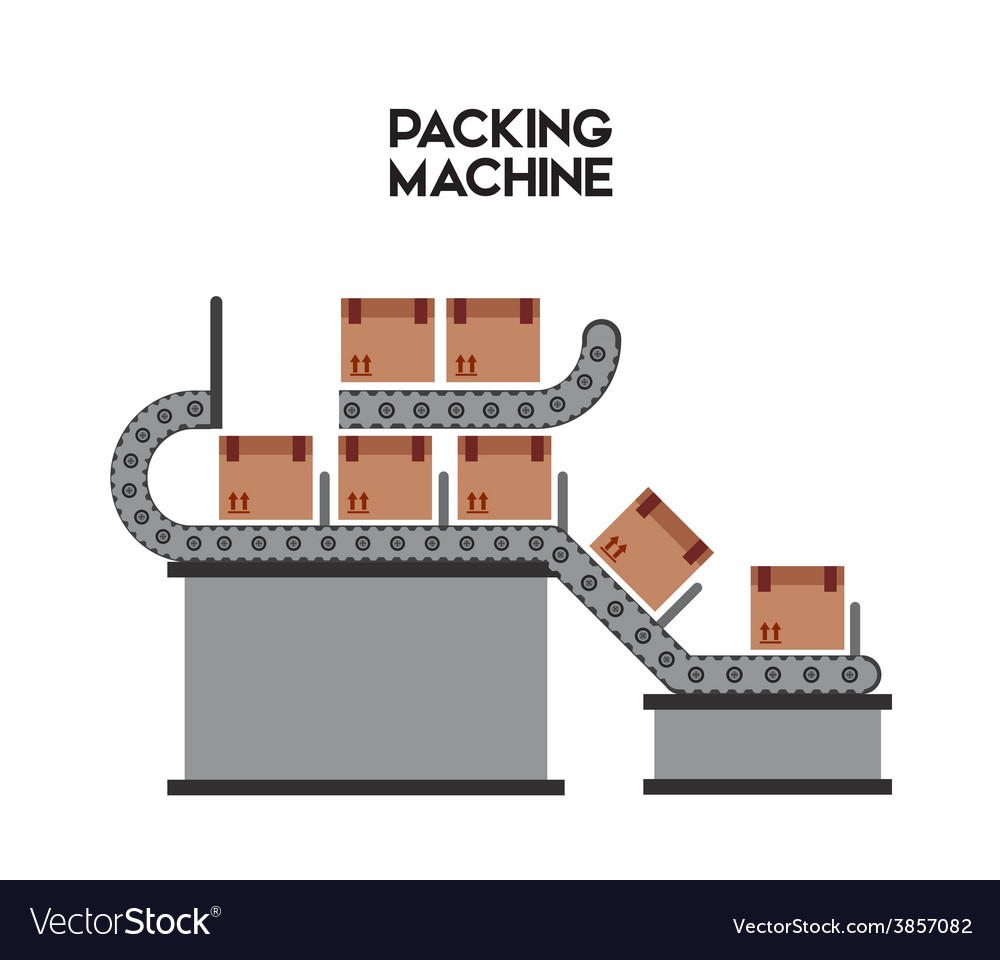 Packing machine vector | Price: 1 Credit (USD $1)