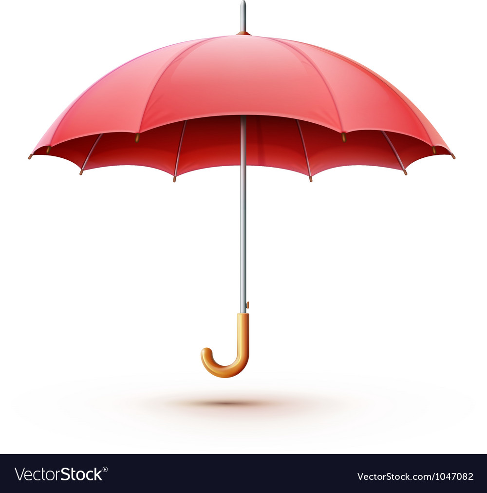 Red umbrella vector | Price: 3 Credit (USD $3)