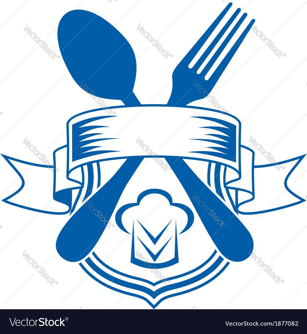 Restaurant or caterers emblem vector | Price: 1 Credit (USD $1)