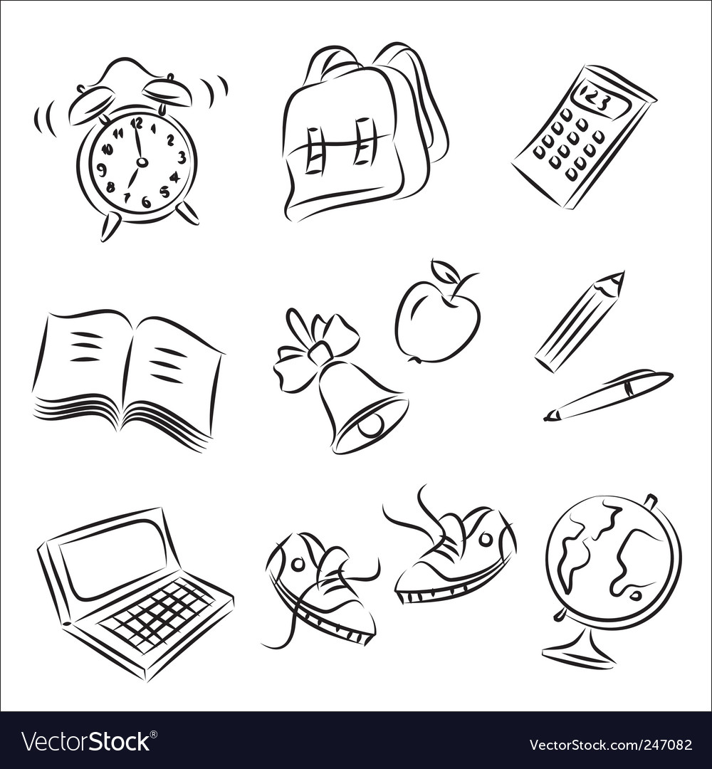 School design elements vector | Price: 1 Credit (USD $1)