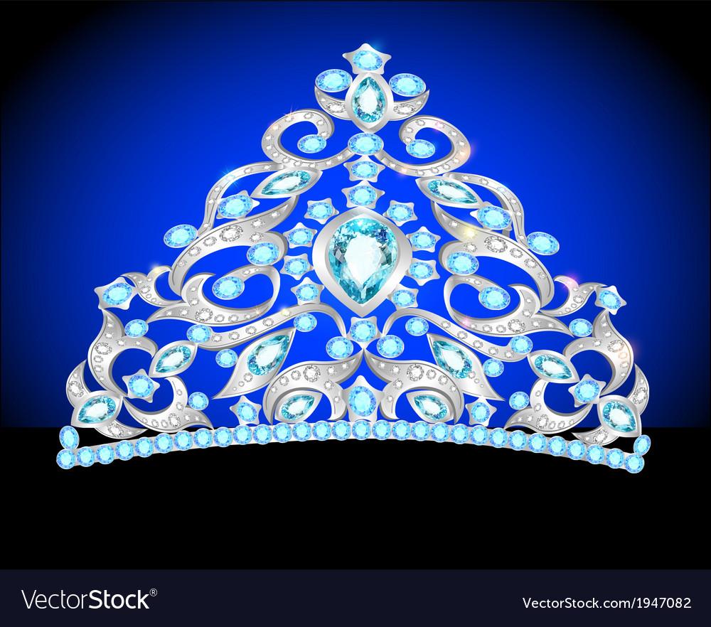 Tiara crown womens wedding vector | Price: 1 Credit (USD $1)