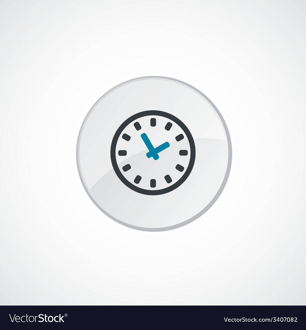 Time icon 2 colored vector | Price: 1 Credit (USD $1)