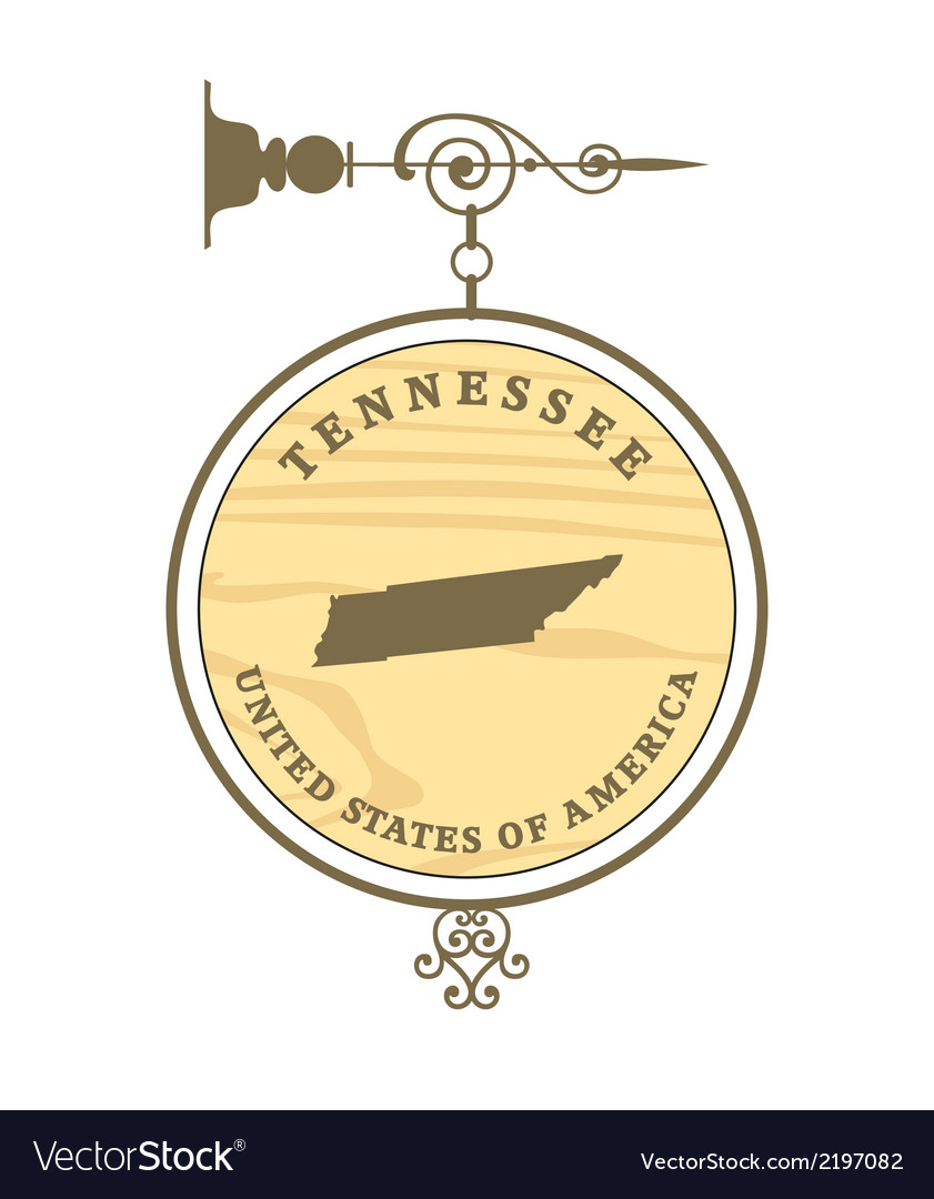 Vintage label tennessee vector | Price: 1 Credit (USD $1)
