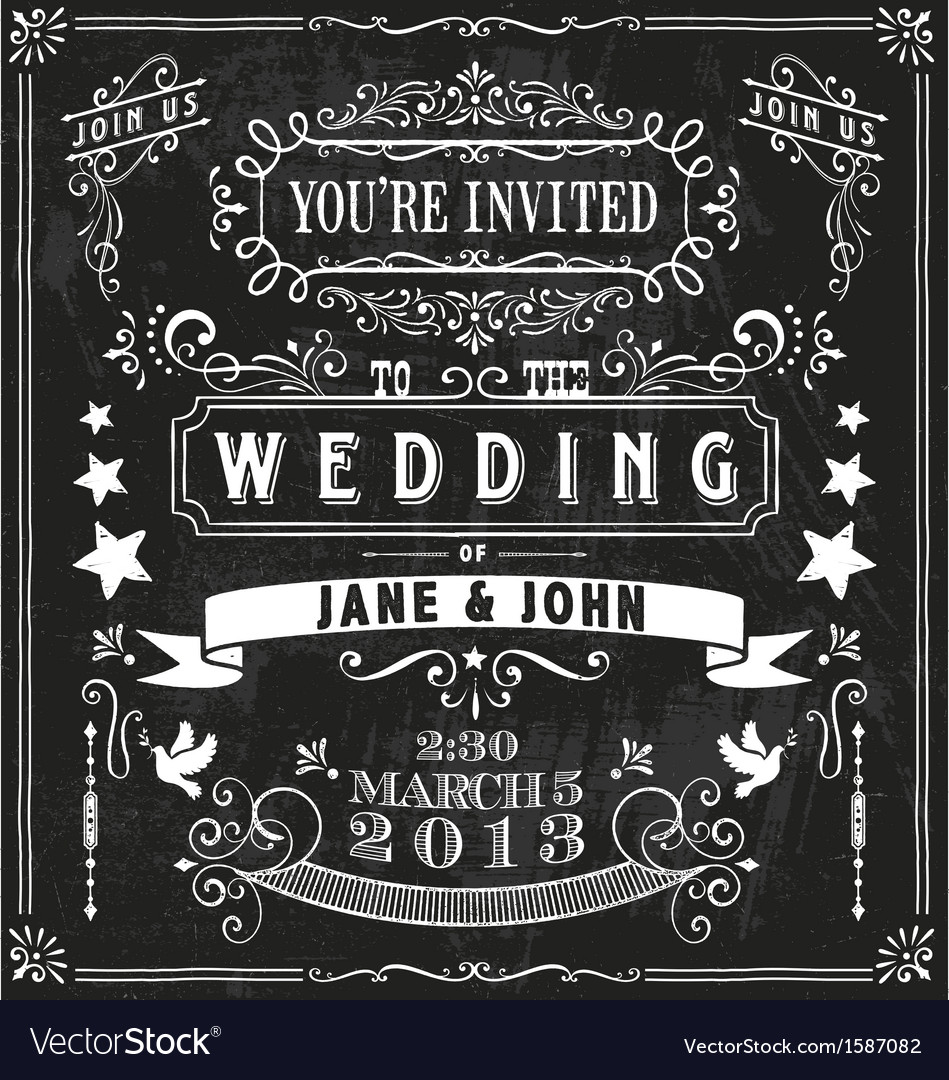 Wedding invitation elements vector | Price: 1 Credit (USD $1)