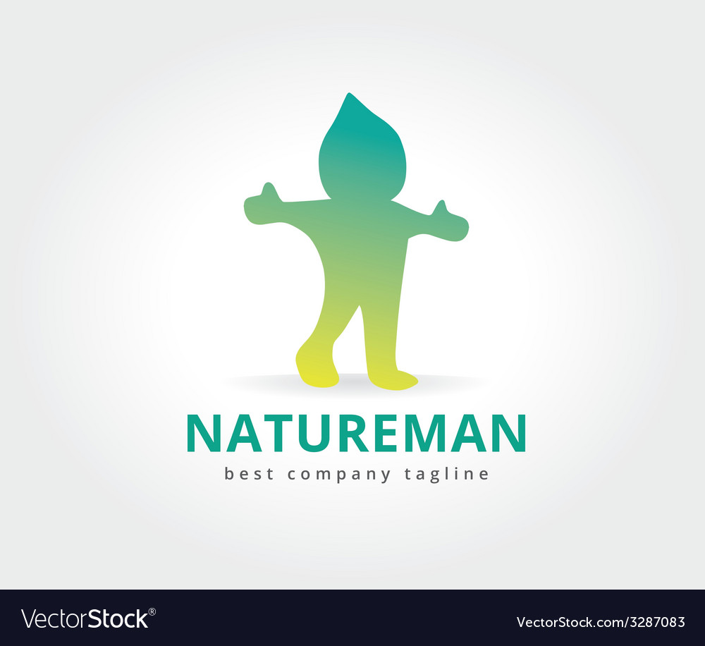 Abstract nature character logo icon concept vector | Price: 1 Credit (USD $1)