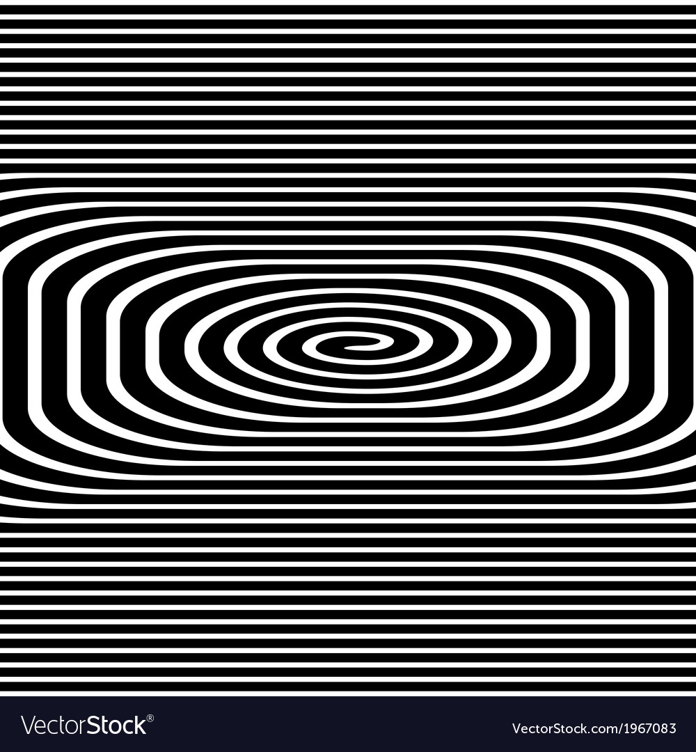 Black and white hypnotic background vector | Price: 1 Credit (USD $1)
