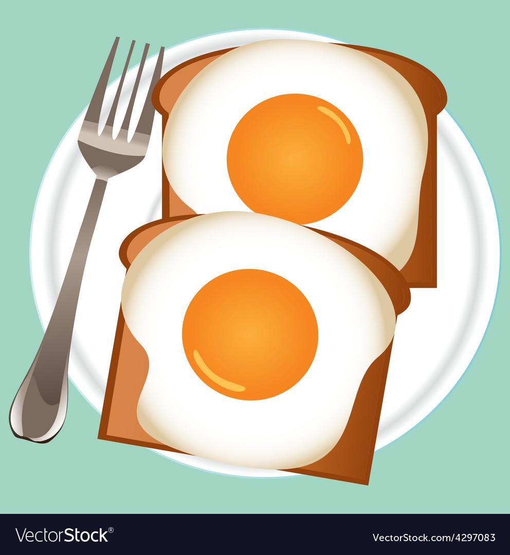 Breakfast eggs vector | Price: 1 Credit (USD $1)