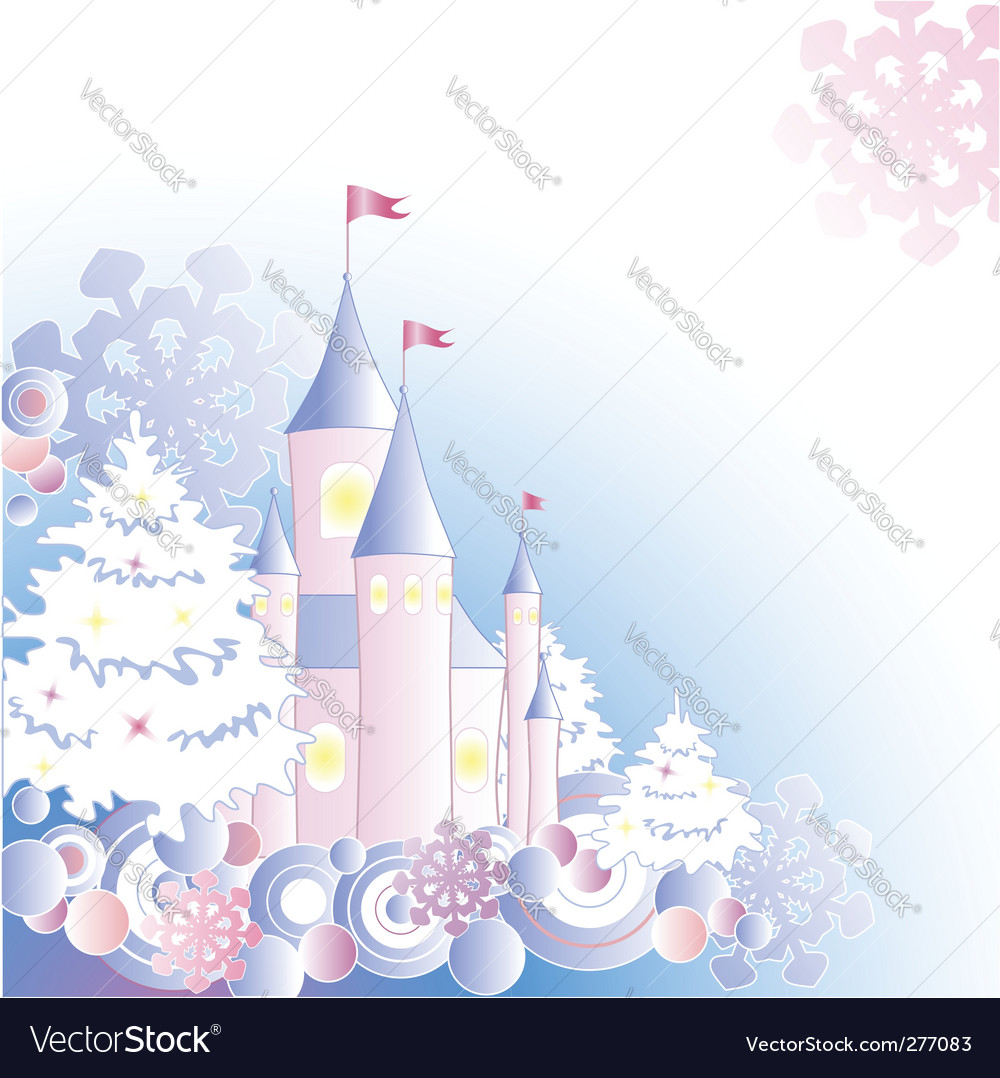 Christmas background with castle vector | Price: 1 Credit (USD $1)