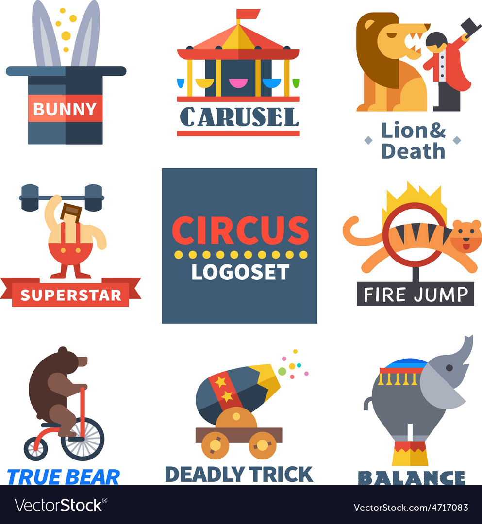 Circus emblems vector | Price: 3 Credit (USD $3)