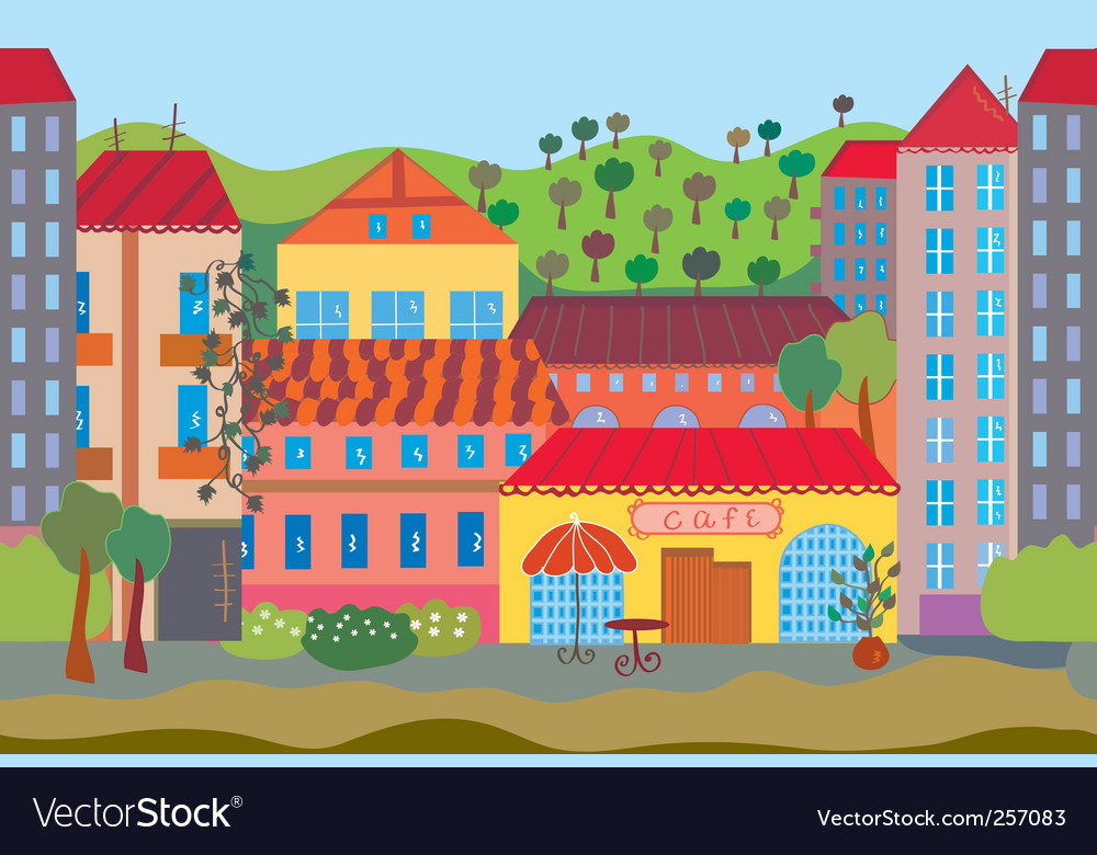 City cartoon seamless vector | Price: 1 Credit (USD $1)