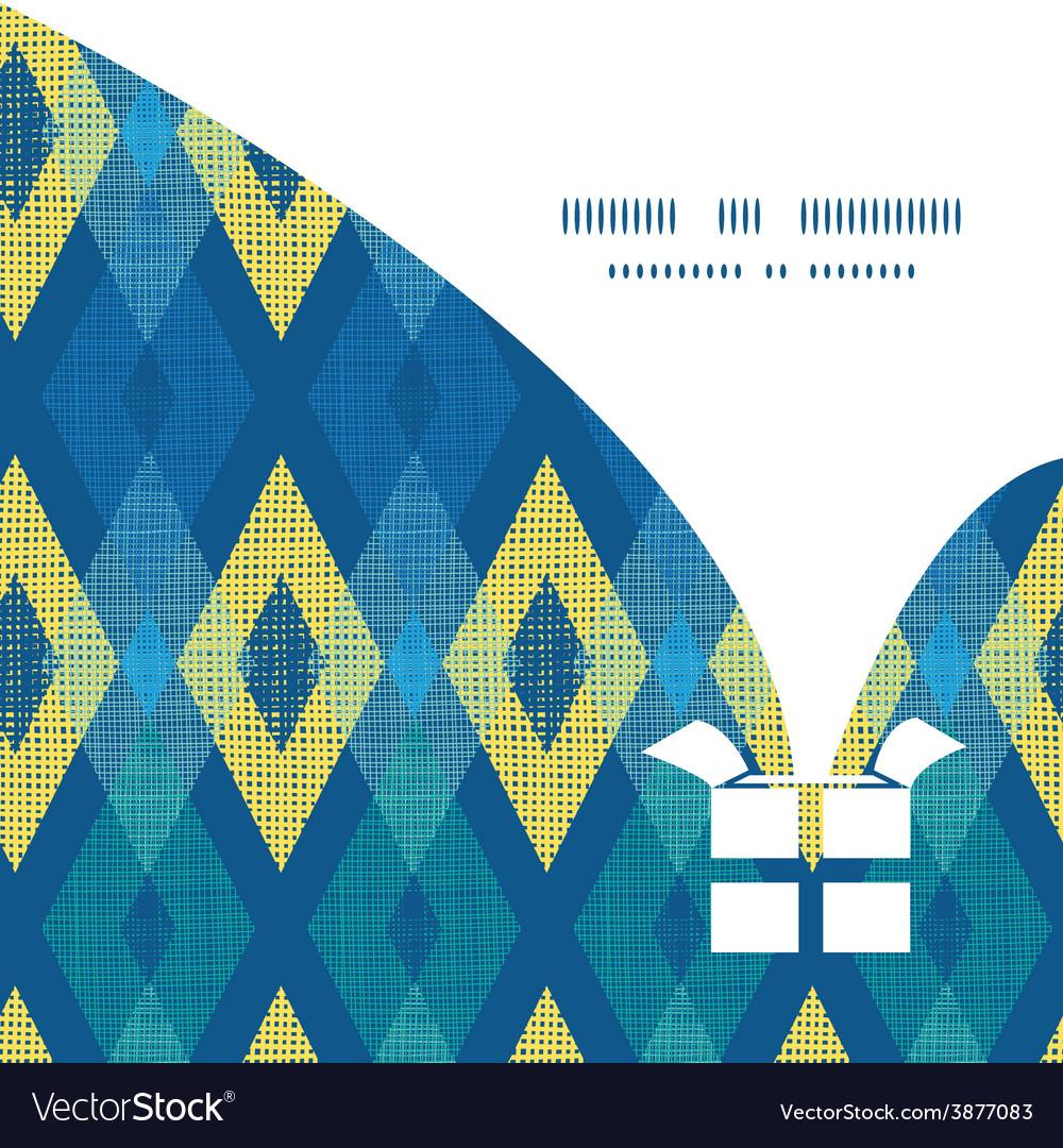 Colorful fabric ikat diamond christmas gift vector | Price: 1 Credit (USD $1)