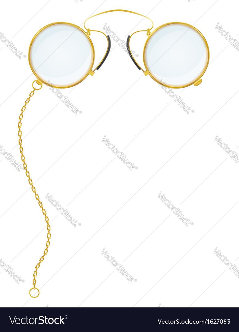 Eyeglasses pince nez vector | Price: 1 Credit (USD $1)