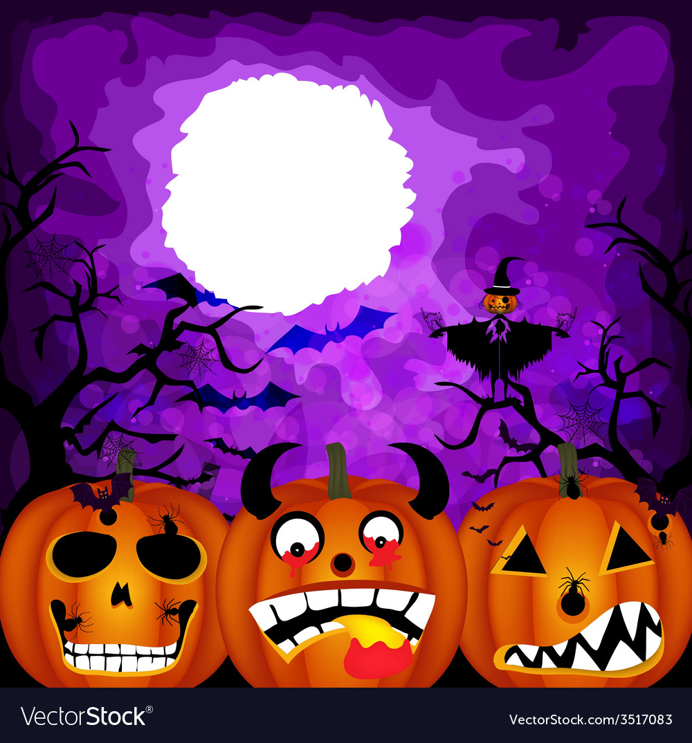 Halloween pumpkin background vector | Price: 1 Credit (USD $1)