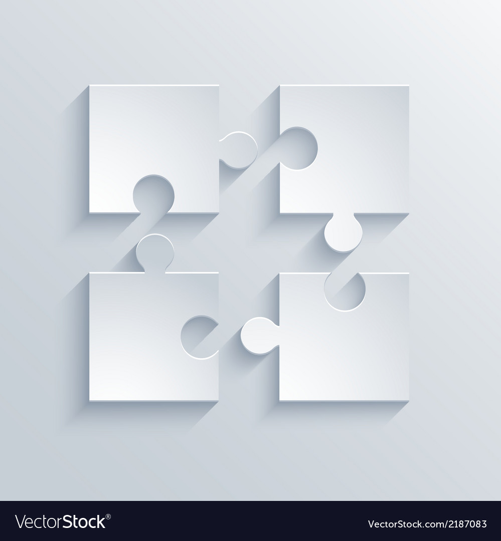 Modern puzzle icons background vector | Price: 1 Credit (USD $1)