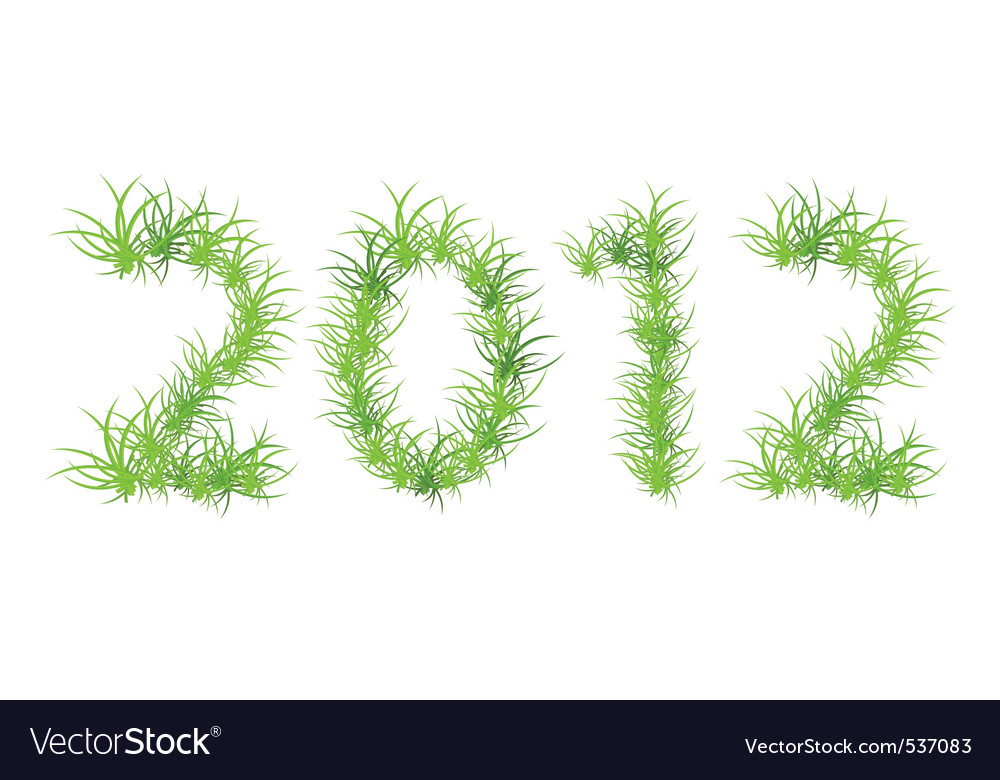 Of green 2012 year ecology con vector