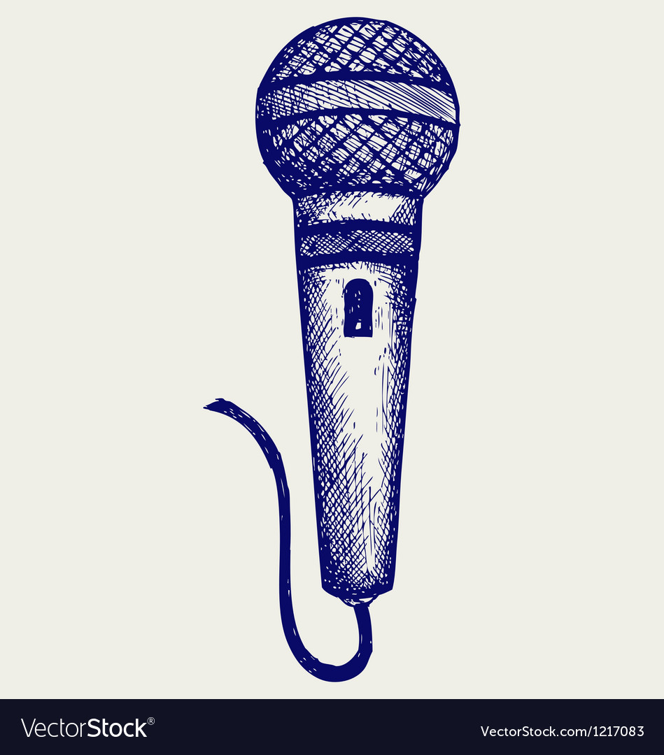 Sketch microphone vector | Price: 1 Credit (USD $1)