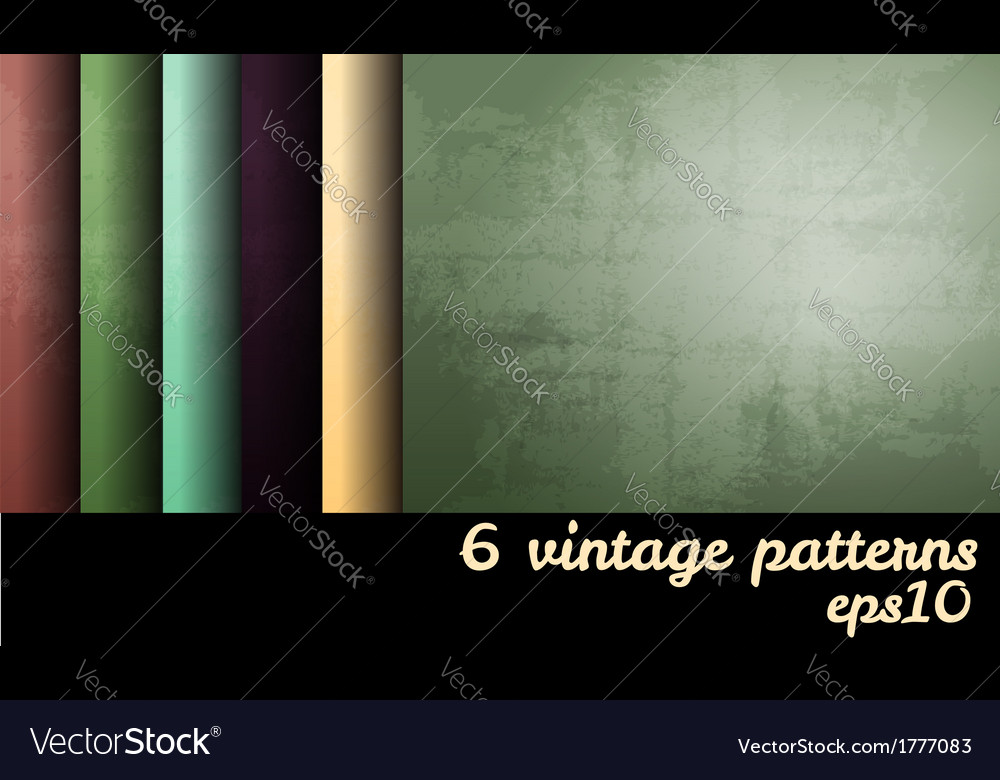Vintage grunge blank backgrounds set vector | Price: 1 Credit (USD $1)