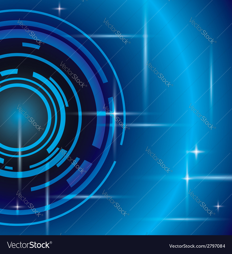 Bright abstract blue background vector