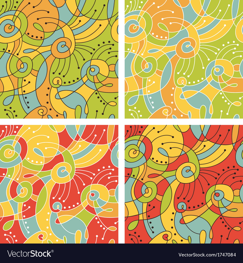 Colored patterns vector | Price: 1 Credit (USD $1)
