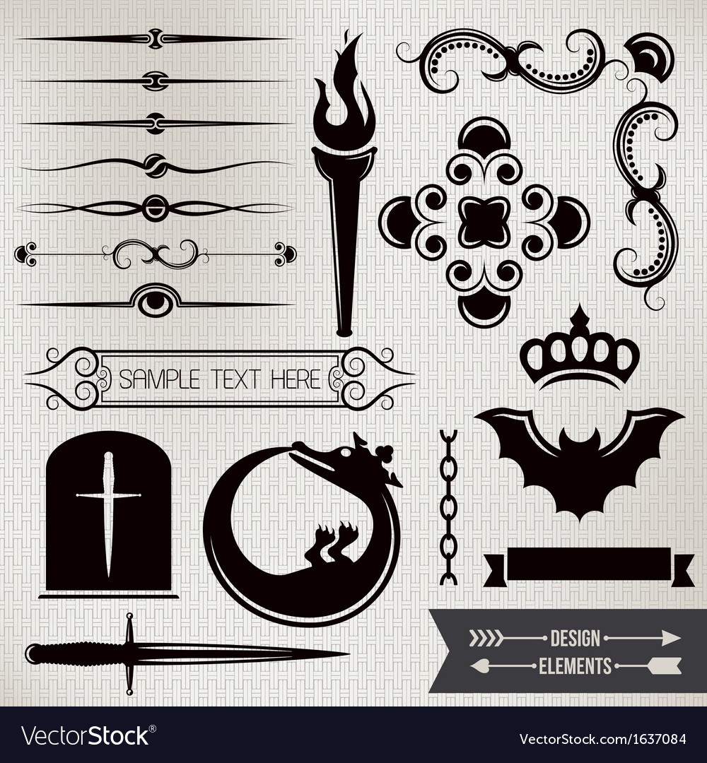 Design elements part 4 vector | Price: 1 Credit (USD $1)