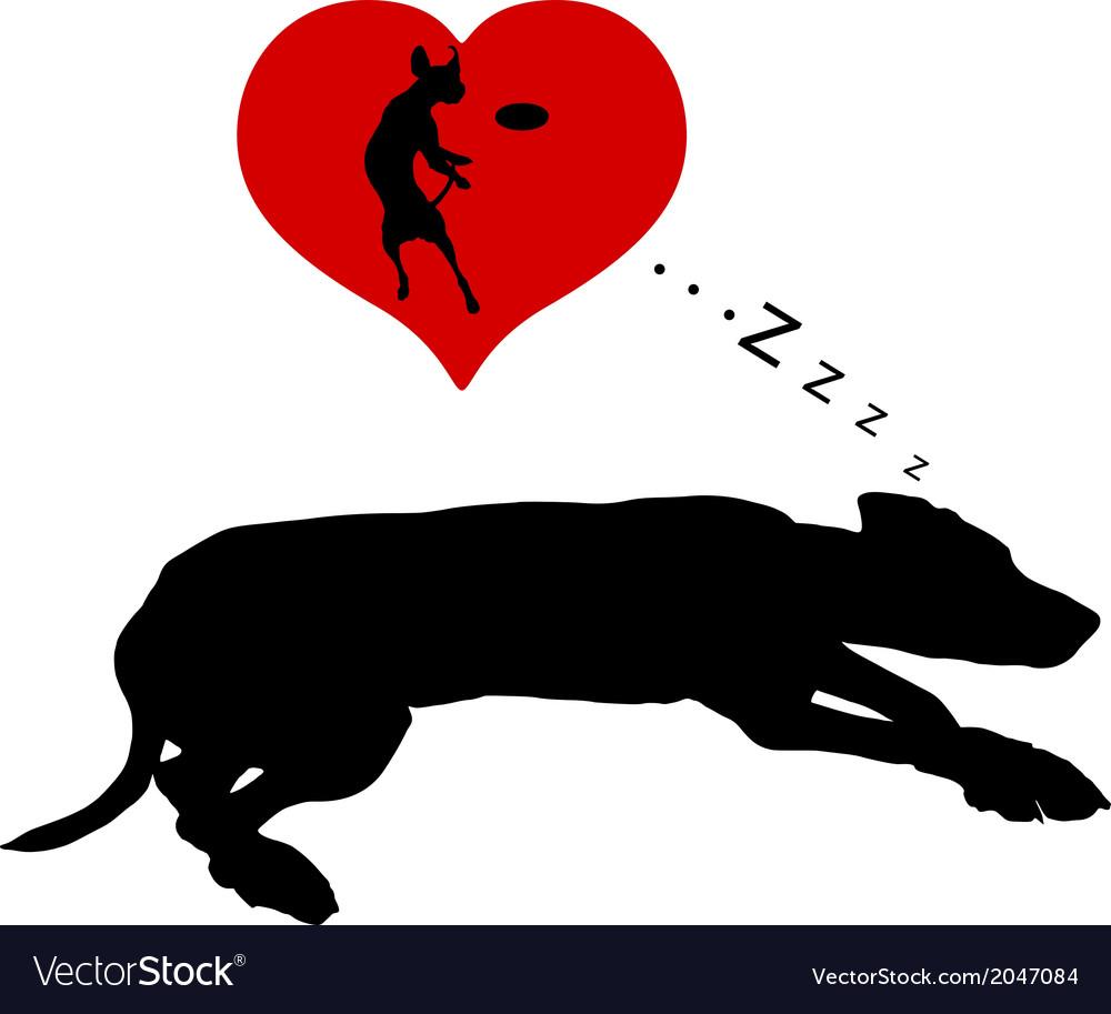 Dog dreams vector | Price: 1 Credit (USD $1)
