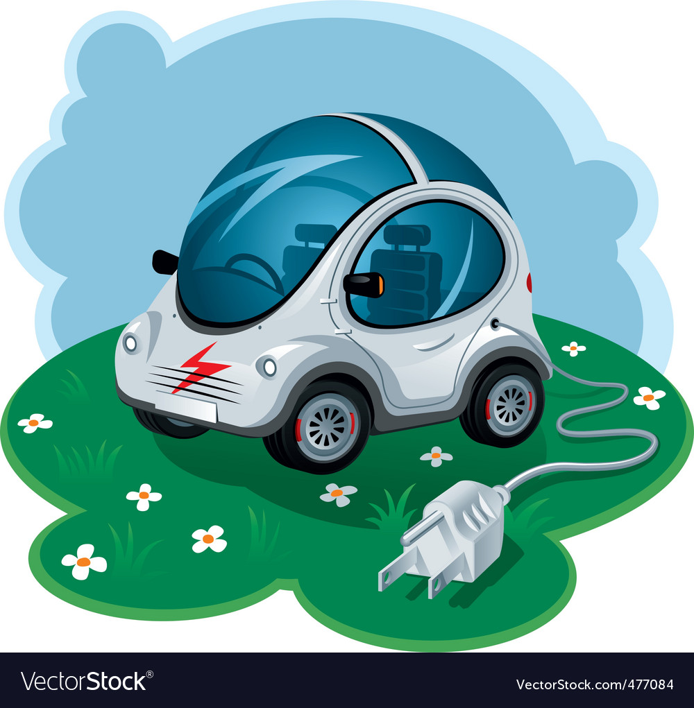 Electric car vector | Price: 3 Credit (USD $3)