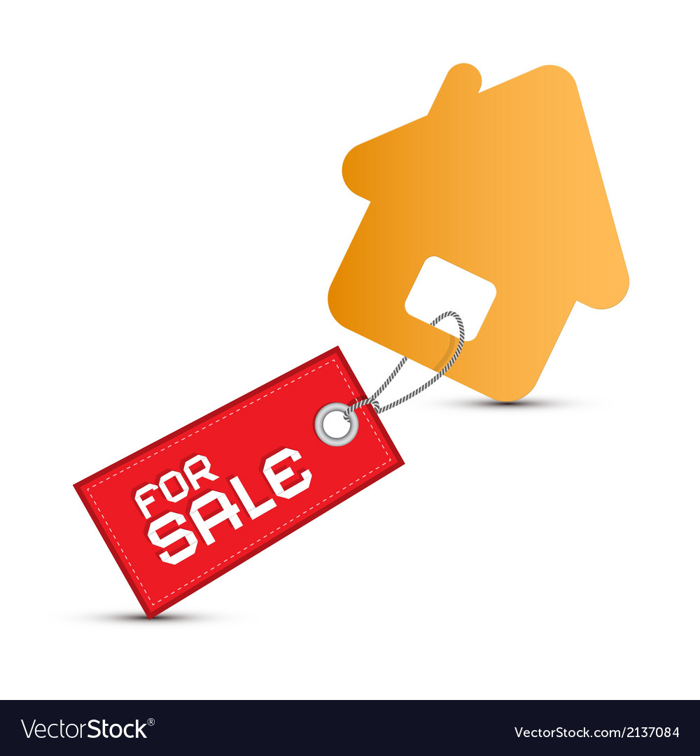 House for sale paper icon isolated on white vector   Price: 1 Credit (USD $1)