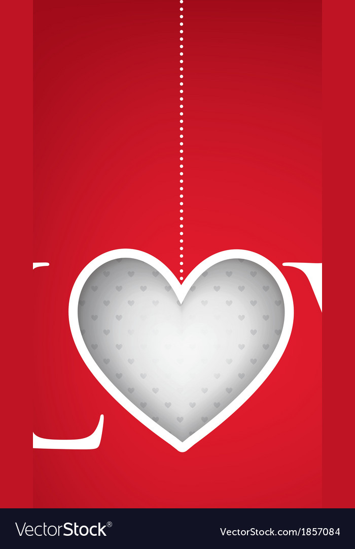 Love heart valentines day card in format vector | Price: 1 Credit (USD $1)
