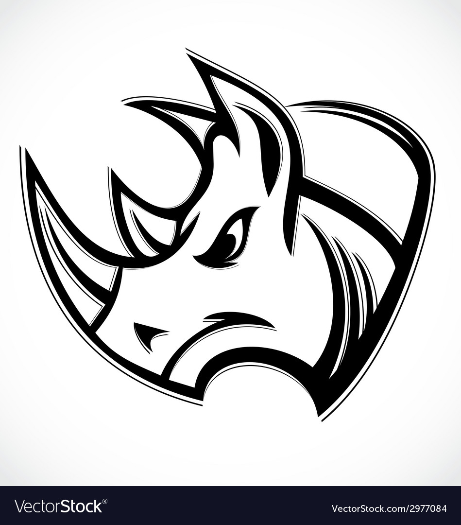 Rhino head vector | Price: 1 Credit (USD $1)