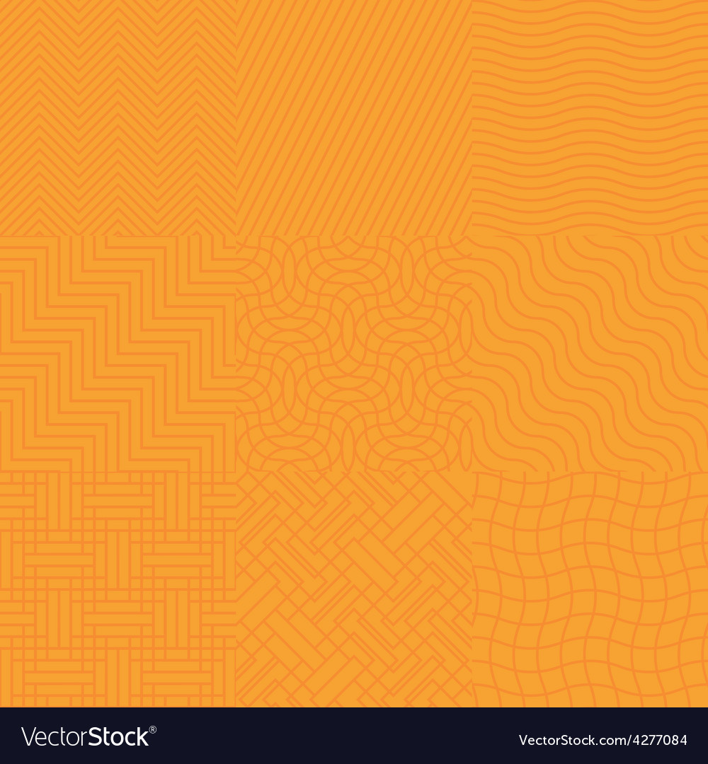 Seamless abstract orange pattern vector | Price: 1 Credit (USD $1)