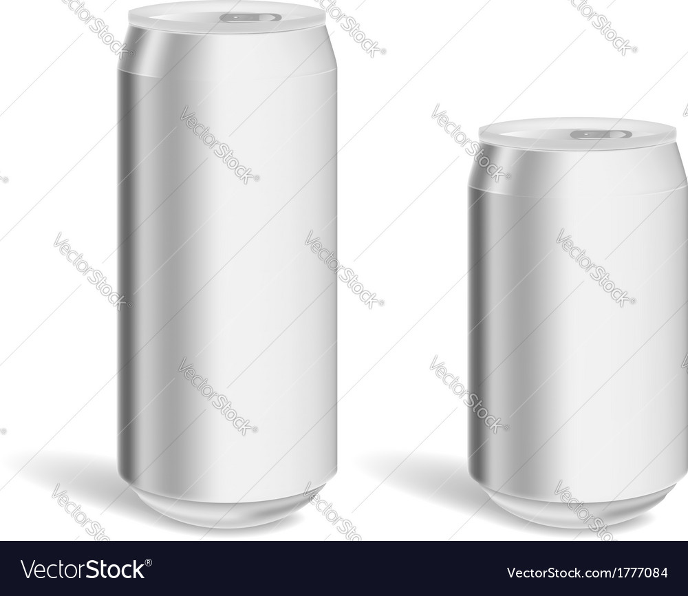 Two blank aluminium cans for product mockup vector | Price: 1 Credit (USD $1)