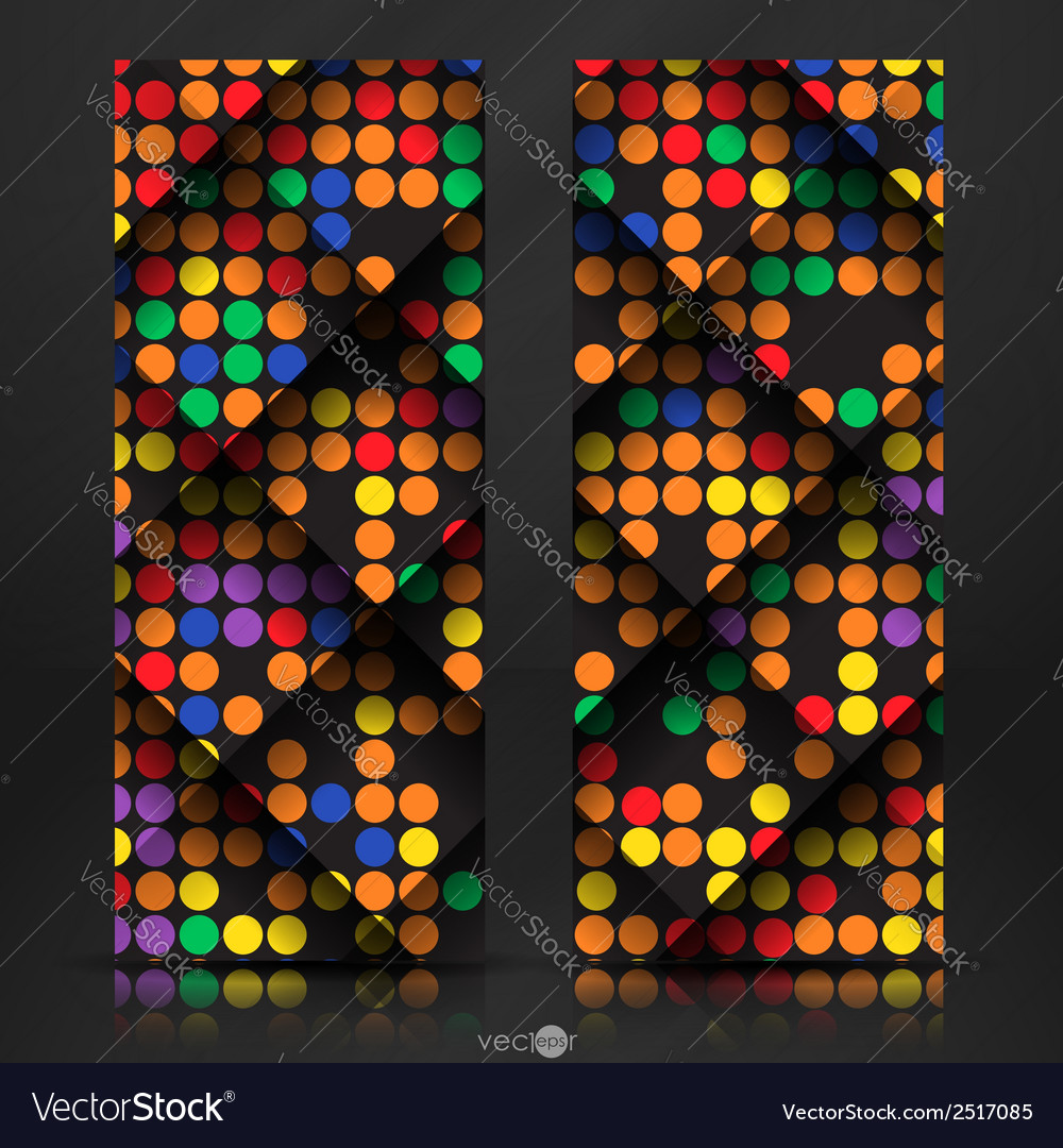 Abstract colorful mosaic pattern design vector | Price: 1 Credit (USD $1)