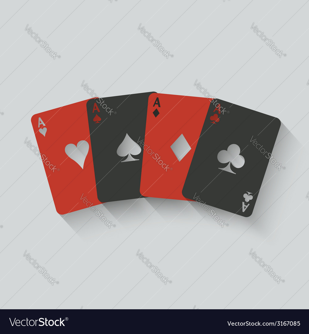 Aces card set vector | Price: 1 Credit (USD $1)
