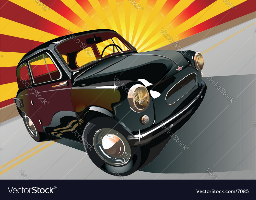 Black retro-mobile vector | Price: 5 Credit (USD $5)