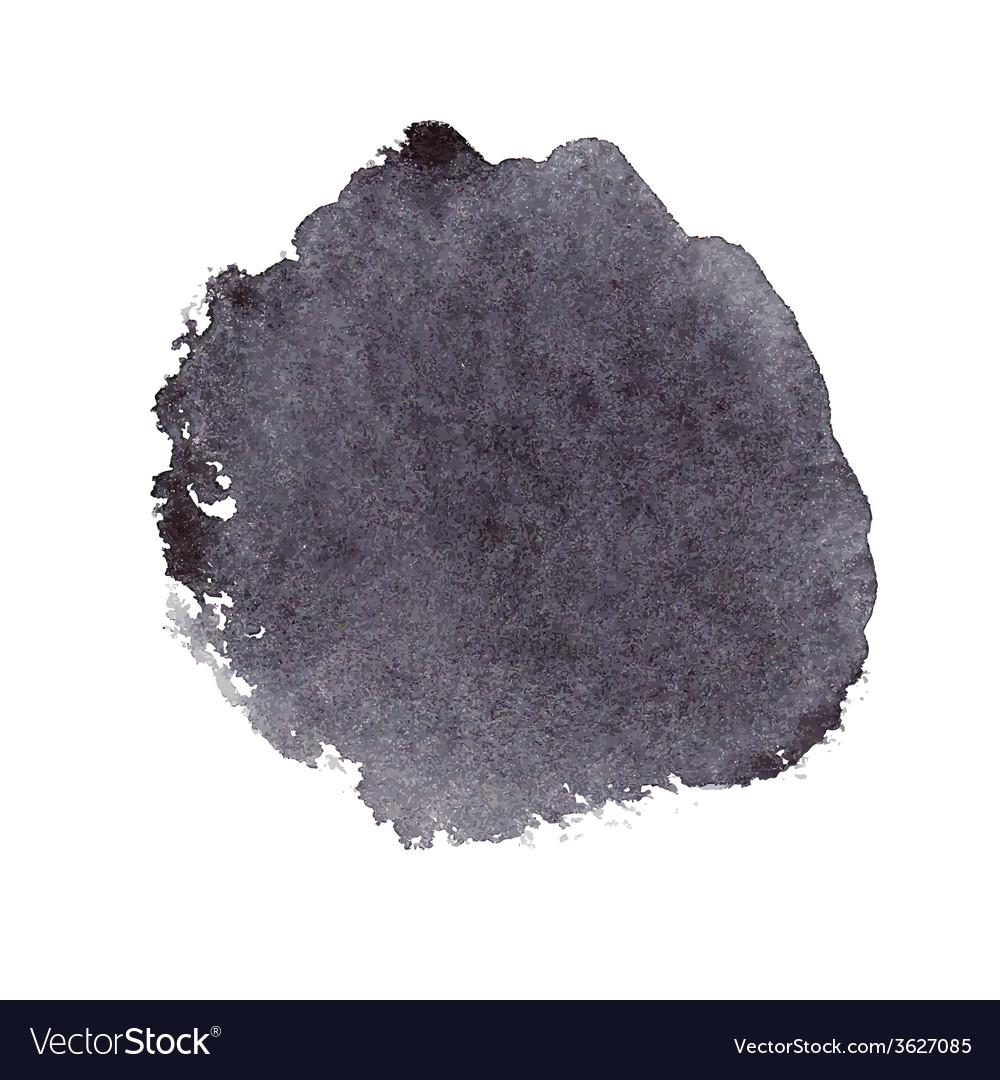 Black watercolor spot vector | Price: 1 Credit (USD $1)