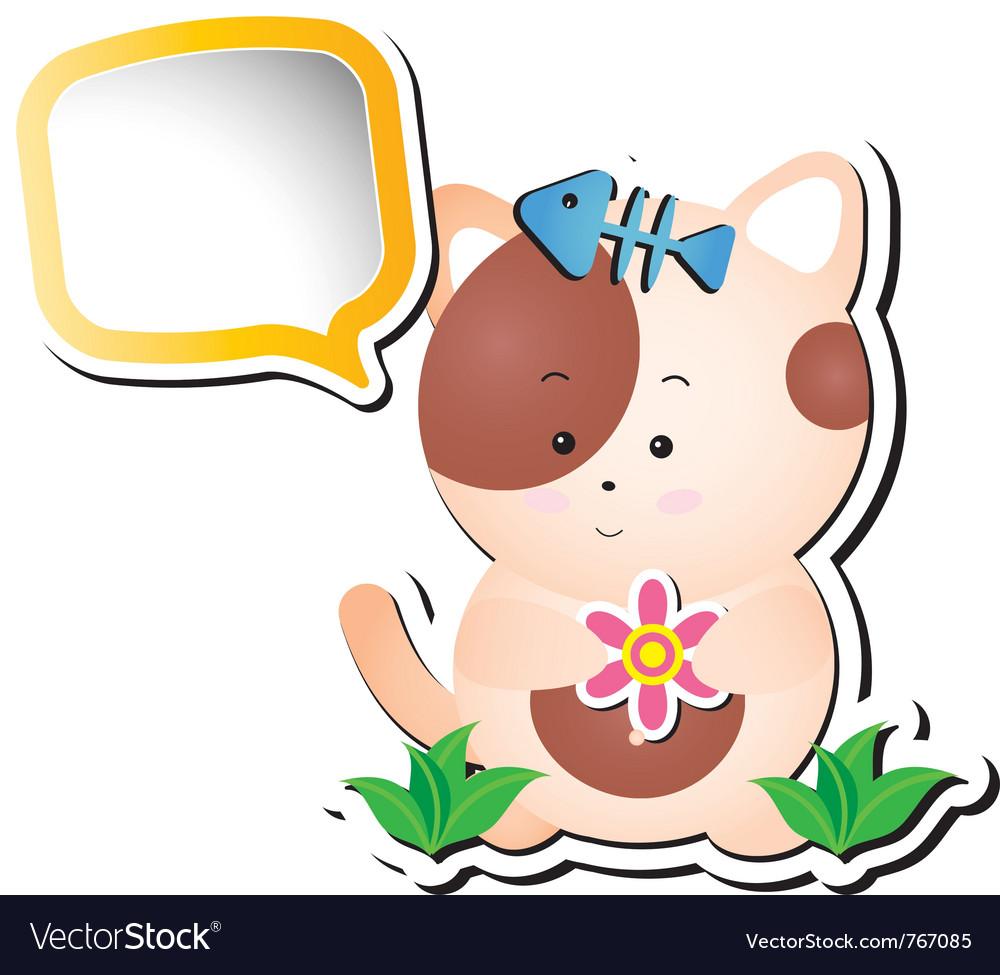 Cartoon cat vector | Price: 1 Credit (USD $1)