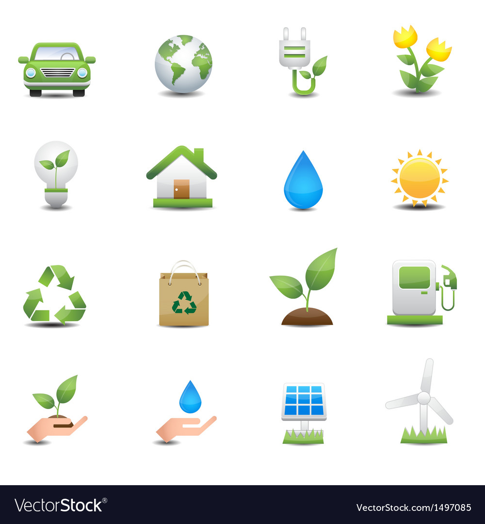 Energy icons set vector | Price: 3 Credit (USD $3)