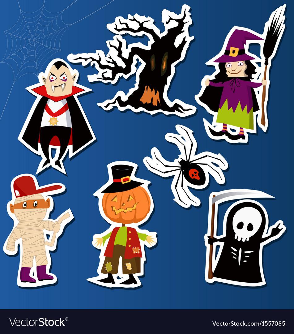 Halloween stickers vector | Price: 1 Credit (USD $1)
