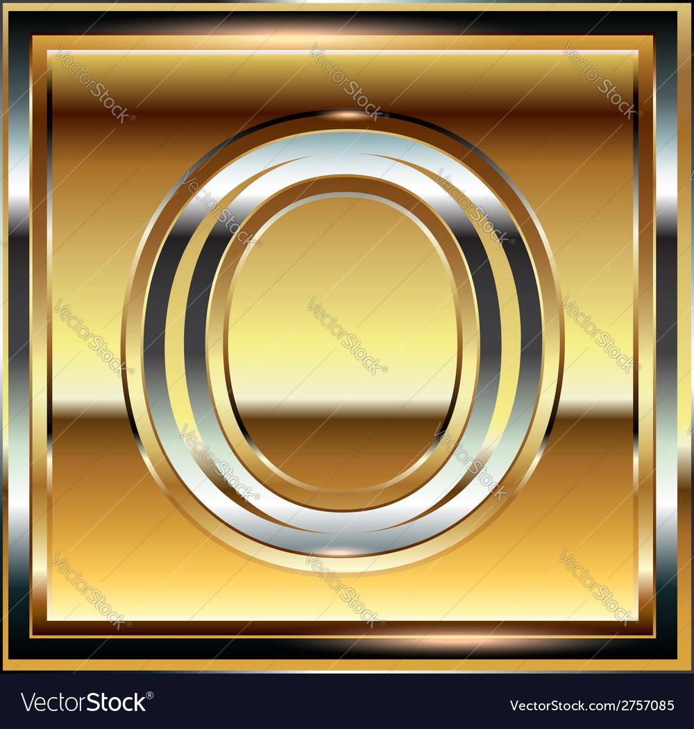 Ingot font letter o vector | Price: 1 Credit (USD $1)